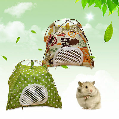 Small Pet Cat Hamster Tent Detachable Washable Outdoor Puppy Cage Kennel Carrier