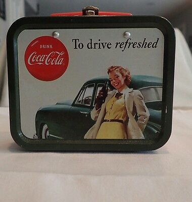 coca cola collectible lunch box clock to drive refreshed