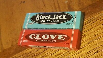 2 New Unopened Adams Chewing Gum Packs -- BlackJack & Clove