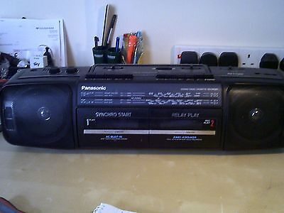 Panasonic RX-FT500 4 Band FM/MW/LW/SW Stereo Radio Double Cassette Recorder