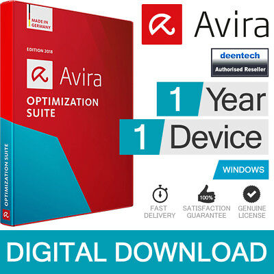 Avira Optimization Suite 2019 (1Year/1PC) Antivirus Pro & System Speedup Pro