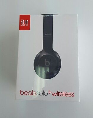 Beats By Dr. Dre Solo 3 Wireless Gloss Black Headphones BRAND NEW SEALED
