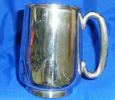 Antique Solid Silver Tankard - 100mm - Hallmarked Birmingham 1918 - 153g