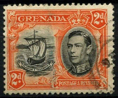 Grenada 1938-50 SG#156, 2d Black And Orange KGVI P12.5 Used #D52161
