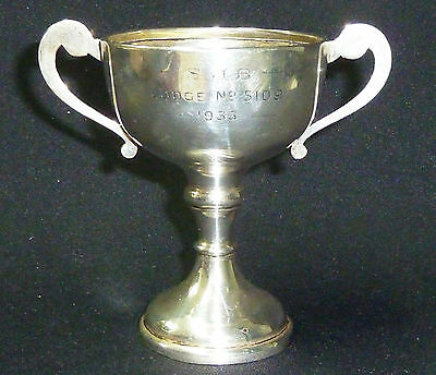 Vintage Solid Silver Trophy Hallmarked London 1933 - Height 100mm - Weight 85g