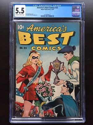 AMERICA'S BEST COMICS #23 CGC FN- 5.5; OW-W; scarce issue! Miss Masque begins!