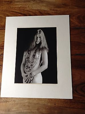 """Janis Nude With Beads"" 1967 Janis Joplin Quality Print Mounted Board Sixties"