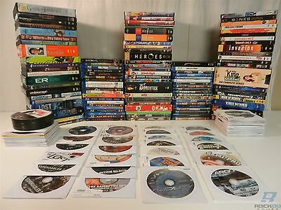 Lot of 208 Damaged DVDs And Blu-Ray Discs Movies and Box Sets