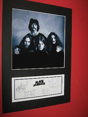 Black Sabbath Ozzy Osbourne  A4 Photo Mount Signed Pre-Printed Ticket Cd
