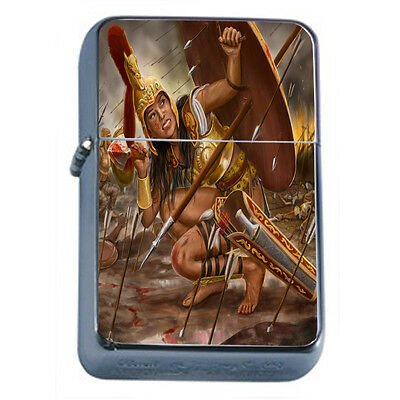 Amazon Warrior Princess D1 Windproof Dual Flame Torch Lighter Refillable