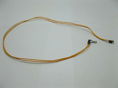 95 Orange 2-String Waxen Strings For Necklace Bronze Clasp