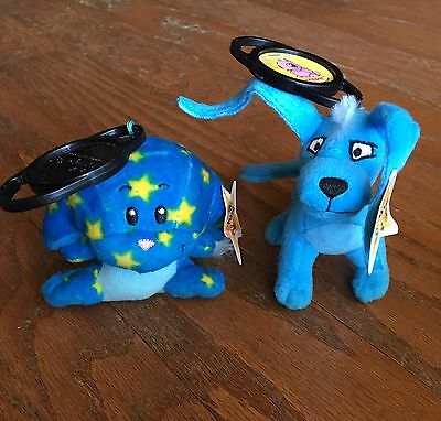 2005 Mcdonalds Neopets Blue Gelert & Starry Kacheek  Mini Plush Toy NWT RARE