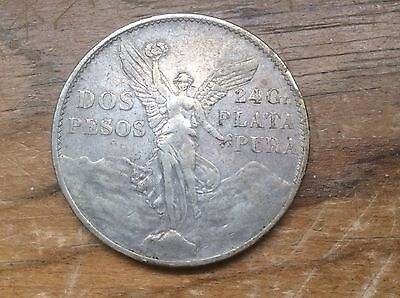 1921 Mexican 2 peso silver crown @@ must see @@@
