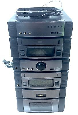 Sanyo Super Mini Component Stereo System Tape Deck CD Player Amplifier TESTED !