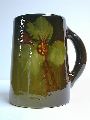"Weller Louwelsa Hand Painted Art Pottery 6"" Mug With Rare Mark"
