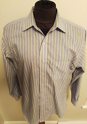 Men's BROOKS BROTHERS Size Large L 16 1/2 34/35 Supima Cotton Blue Dress Shirt
