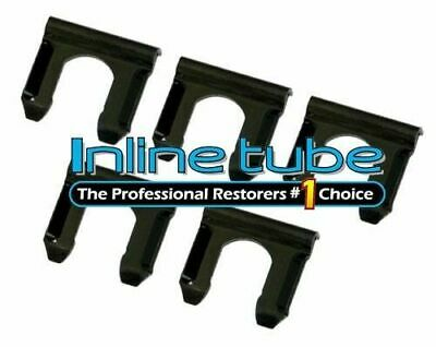 64-79 Disc Drum Rubber Brake Line Flex Hose Retainer Bracket U Clip Clips 5 pc