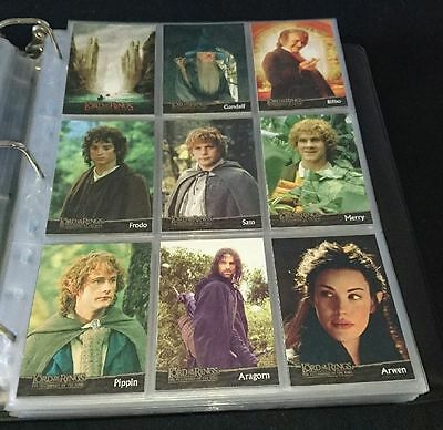 Trading Cards Lord of the Rings Fellowship of the Ring Topps 90 Cards Complete