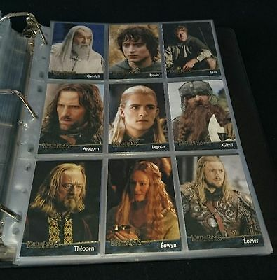 Trading Cards Lord of the Rings The Return of the King Topps 90 Cards Complete