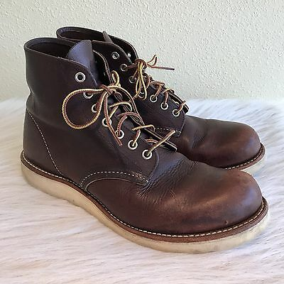 Red Wing Shoes Mens Size 9 Classic Round Toe Boots Leather 7 Eye