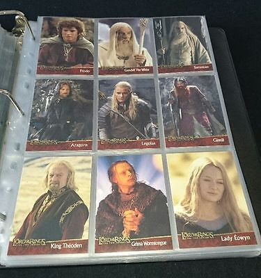 Trading Cards Lord of the Rings The Two Towers Topps 90 Cards Complete
