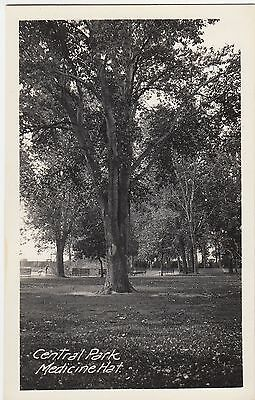 Central Park MEDICINE HAT Alberta Canada 1924-49 Real Photo Postcard