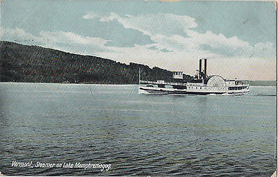 Lady of the Lake STEAMER on Lake Memphremagog VERMONT USA 1908 Postcard