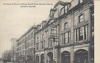 Richmond St. from Dundas St. LONDON Ontario Canada 1907-15 Valentine Postcard