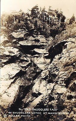Old Smugglers Face Smugglers Notch Mt. Mansfield Vermont USA © Fuller RPPC