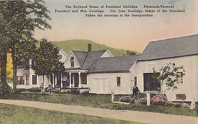 Boyhood Home of President Coolidge PLYMOUTH Vermont 1907-15 F V Cilleys Postcard