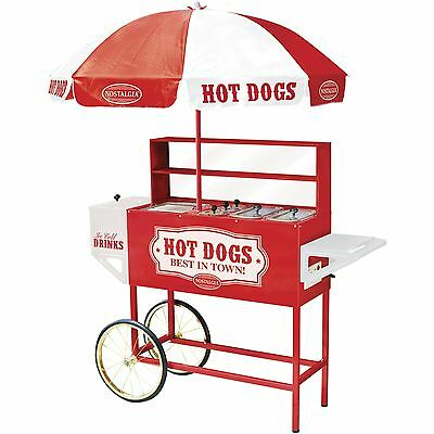 Nostalgia HDC701 48-Inch Tall Vintage Series Commercial Hot Dog Cart with Umb...