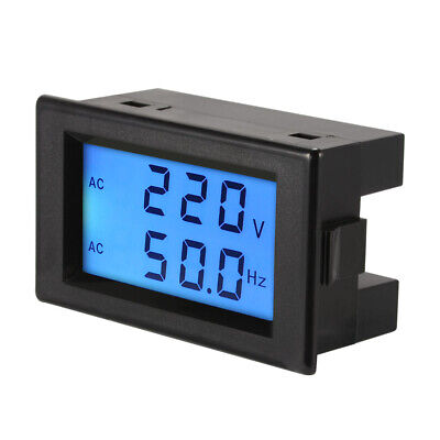 LCD Voltage Frequency Meter Voltmeter AC80-300V 45.0-65.0Hz Panel Monitor MA1225