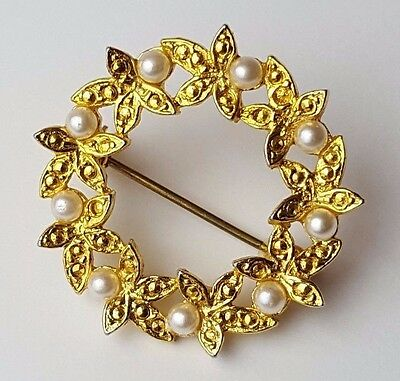 Antique / Vintage - Jewellery - Brooch - Gold Tone - Weight 6.0g