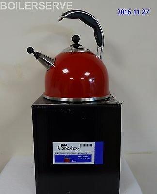 AGA Stainless Steel Whistling Kettle Claret W2880