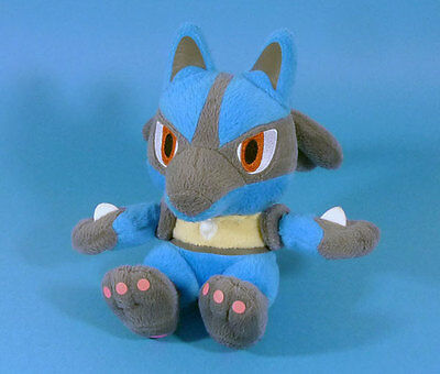 POKEMON - LUCARIO Peluche 18 cm Banpresto 2010 JAPON plush RARE