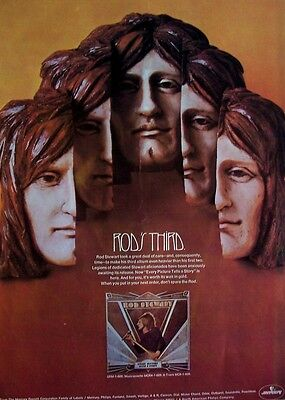 faces ROD STEWART 1971 Poster Ad EVERY PICTURE TELS A STORY