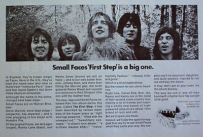 FACES 1970 Advert FIRST STEP rod stewart ronnie lane