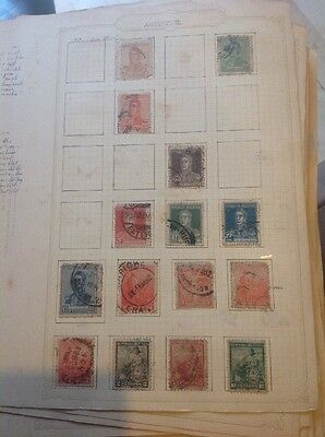 Argentina Stamps 2 Sheets. Old Collection