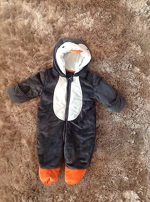 Super soft Penguin Snowsuit Marks And Spencer Baby 3-6 Months Excellent Con
