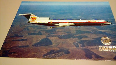 Post card, carte postale, IBERIA Boeing 727/256