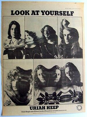 URIAH HEEP 1971 Poster Ad LOOK AT YOURSELF