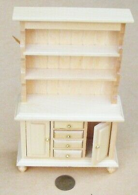 1:12 Scale Pine Welsh Dresser Dolls House Furniture Kitchen Wood Accessory 135
