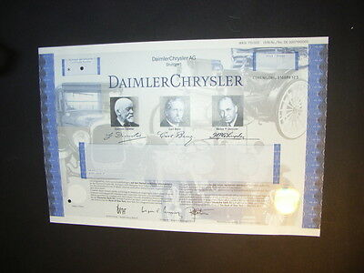 DaimlerChrysler specimen, great pics, hologramme, small cancellation holes
