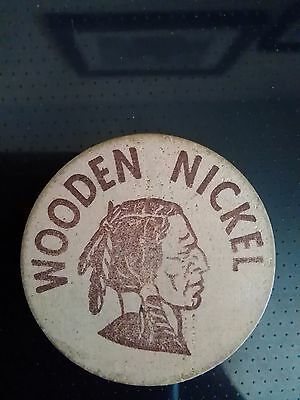"""""""Good For 5 Cents In Trade at A & W"""" Wooden Nickel"""