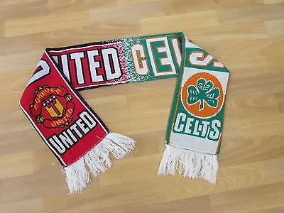 MANCHESTER United v the CELTS Celtic FOOTBALL Scarf