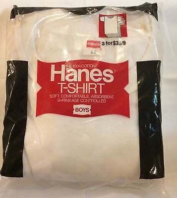 VTG 1970s NOS HAINES T SHIRTS 3 PACK BOYS SIZE 20