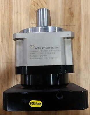 Apex Planetary Gearbox AB115-007-S2-P2-MPL115mm Shaft Bore 7:1 Ratio