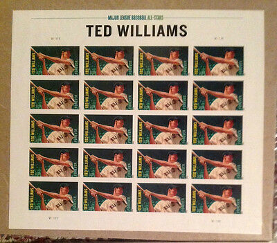 U.s. #4694  Mlb All-Stars Ted Williams Forever Sheet/20  Mnh