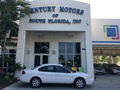 2007 Ford Taurus SE Sedan 4-Door LOW MILES CARFAX NO ACCIDENTS FLORIDA WHITE