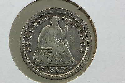 1853 Half Dime XF Arrows at Date